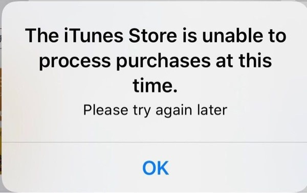 苹果 iOS 13等系统疯狂弹出窗口:The iTunes Store is unable to process purchases
